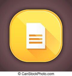 document, pictogram, vector
