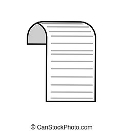 document piece paper white icon