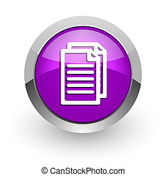 document pink glossy web icon