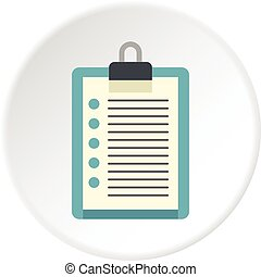 Document plan icon circle