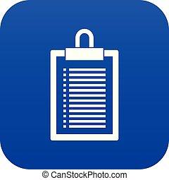 Document plan icon digital blue