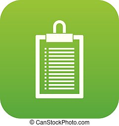 Document plan icon digital green