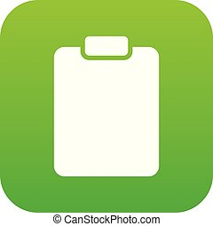 Document plan icon green vector
