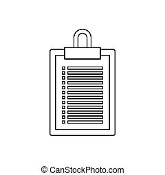 Document plan icon, outline style