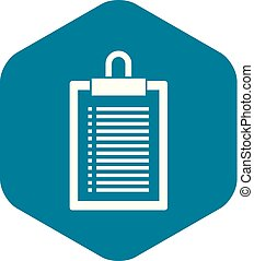 Document plan icon, simple style