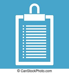 Document plan icon white