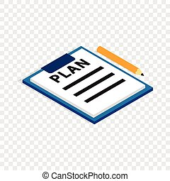 Document plan isometric icon
