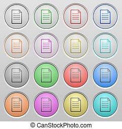 Document plastic sunk buttons