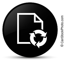 Document process icon black round button