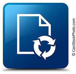 Document process icon blue square button