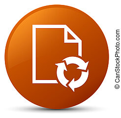 Document process icon brown round button