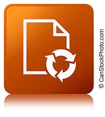 Document process icon brown square button