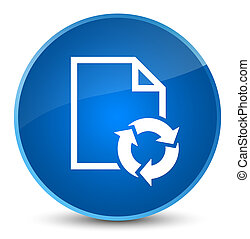 Document process icon elegant blue round button