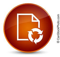 Document process icon elegant brown round button