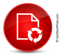 Document process icon elegant red round button