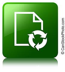 Document process icon green square button