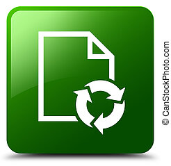 Document process icon green square button