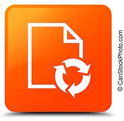 Document process icon orange square button
