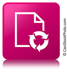 Document process icon pink square button