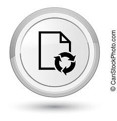Document process icon prime white round button