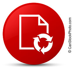Document process icon red round button