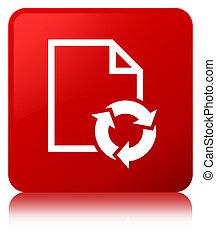 Document process icon red square button