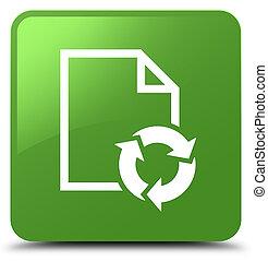 Document process icon soft green square button