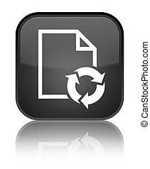 Document process icon special black square button
