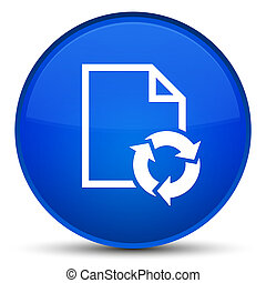 Document process icon special blue round button