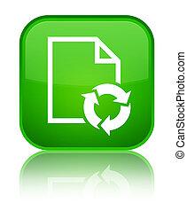 Document process icon special green square button