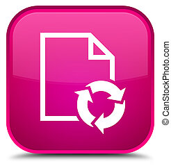 Document process icon special pink square button