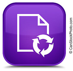 Document process icon special purple square button