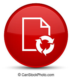 Document process icon special red round button