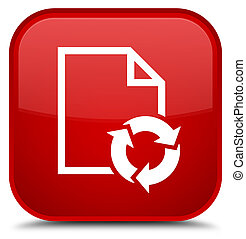 Document process icon special red square button