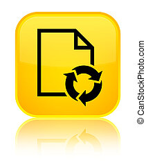 Document process icon special yellow square button