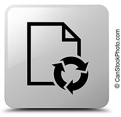 Document process icon white square button