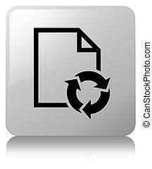 Document process icon white square button