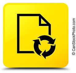 Document process icon yellow square button