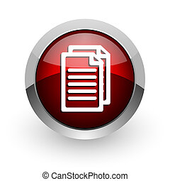 document red circle web glossy icon