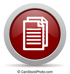 document red glossy web icon
