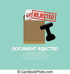 Document Rejected Stamp Vector