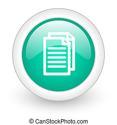 document round glossy web icon on white background