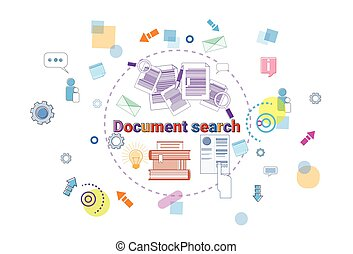 Document Search Banner Computer Files Data Research Internet Concept