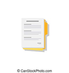 Document - Shadow icon vector isolated.