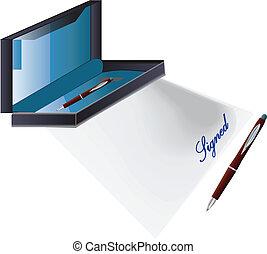 document, signé
