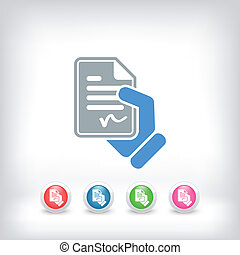 Document signed icon
