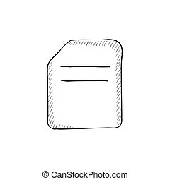 Document sketch icon.