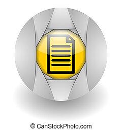 document steel glosssy icon