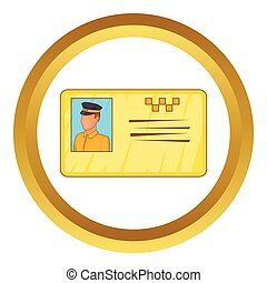 Document taxi driver vector icon