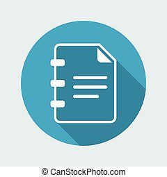 Document text - Minimal vector icon